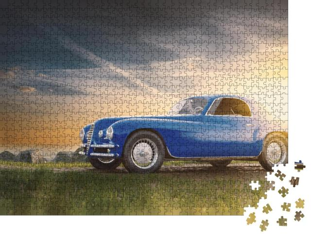 """Puzzle 1000 Teile """"Oldtimer bei Sonnenuntergang"""""""