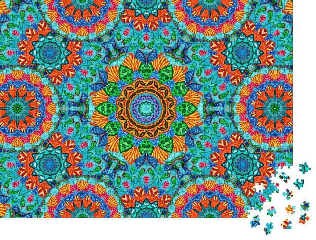 """Puzzle 1000 Teile """"Abstraktes Mandala-Muster im arabischen Stil"""""""