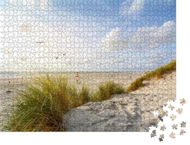 """Puzzle 1000 Teile """"Landschaft mit Strand und Sanddünen, Jütland, Dänemark"""""""