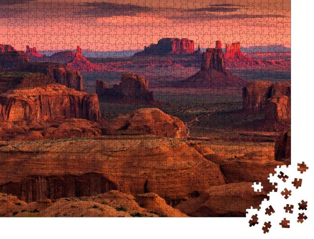 """Puzzle 1000 Teile """"Sonnenaufgang in Hunts Mesa, Monument Valley, Arizona, USA"""""""