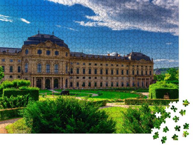 """Puzzle 1000 Teile """"Die Residenz in Würzburg, Deutschland, beliebte Touristenattraktion"""""""