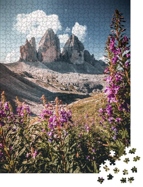 """Puzzle 1000 Teile """"Dolomiten Alpen, Drei Zinnen, Südtirol, Italien"""""""