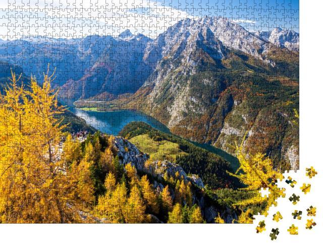 """Puzzle 1000 Teile """"Watzmann am Königssee im Nationalpark Berchtesgaden, Bayerische Alpen"""""""