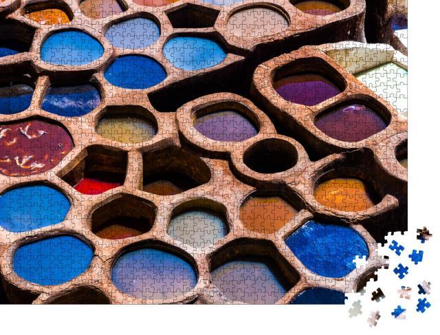 """Puzzle 1000 Teile """"Handwerkliche Farbenpracht in Fez, Marokko"""""""