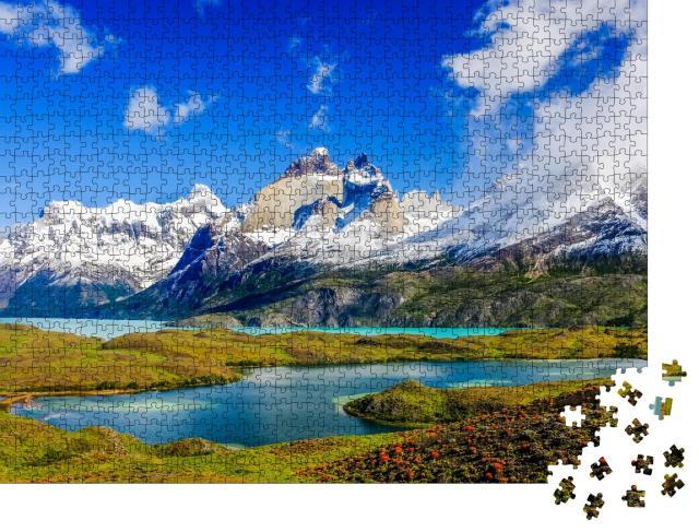 """Puzzle 1000 Teile """"Wunderschöne Patagonien-Landschaft im Torres del Paine Nationalpark, Chile"""""""