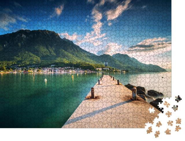 """Puzzle 1000 Teile """"Sonnenuntergang im Wallis, Schweizer Alpen, Europa"""""""