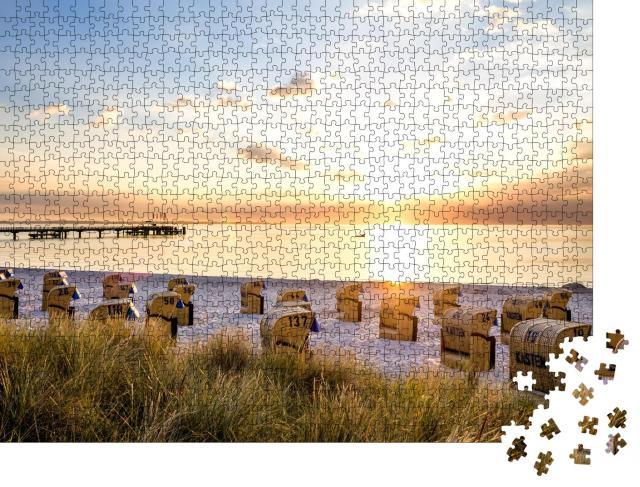 """Puzzle 1000 Teile """"Strand von Scharbeutz, Ostsee, Deutschland"""""""