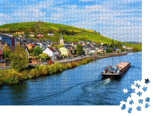 """Puzzle 1000 Teile """"Mosel bei Wormeldange, Luxemburger Land"""""""
