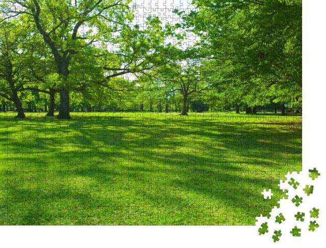 """Puzzle 1000 Teile """"Grüne Parklandschaft"""""""
