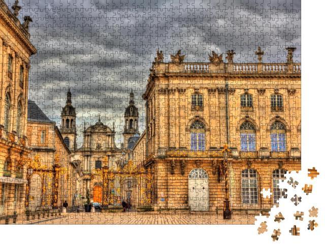 """Puzzle 1000 Teile """"Kathedrale von Nancy von der Place Stanislas, Lothringen, Frankreich"""""""