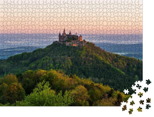 """Puzzle 1000 Teile """"Goldene Stunde auf der Burg Hohenzollern"""""""