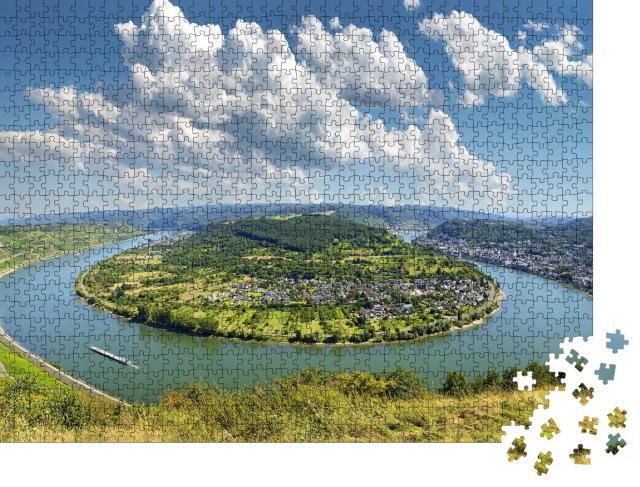 """Puzzle 1000 Teile """"Weindorf Boppard am Rhein, UNESCO-Welterbe Mittelrheintal"""""""