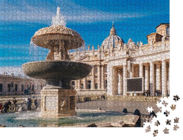 """Puzzle 1000 Teile """"Vatikanstadt: Petersdom und Petersplatz"""""""
