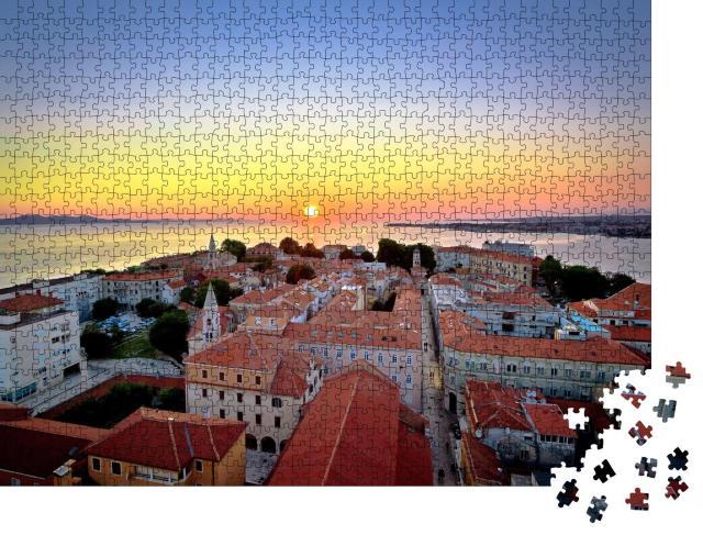 """Puzzle 1000 Teile """"Skyline von Zadar bei Sonnenuntergang, Dalmatien, Kroatien"""""""