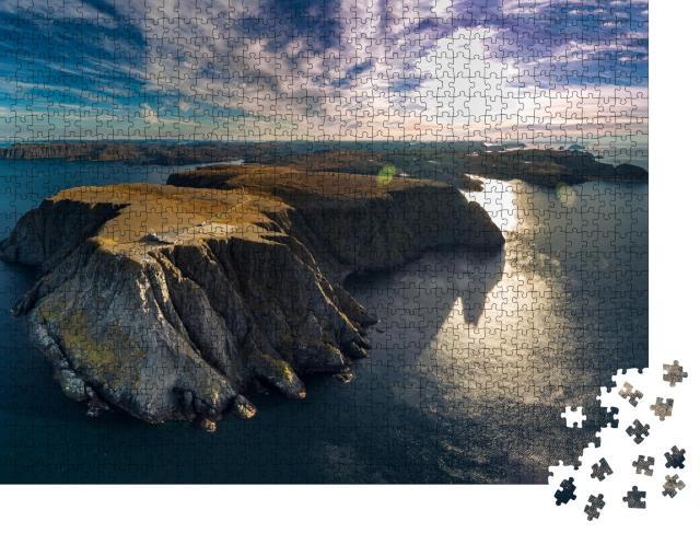 """Puzzle 1000 Teile """"Luftaufnahme des Nordkapps im äußersten Teil Norwegens"""""""