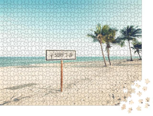 """Puzzle 1000 Teile """"Surfer willkommen: ein tropisches Strandparadies"""""""