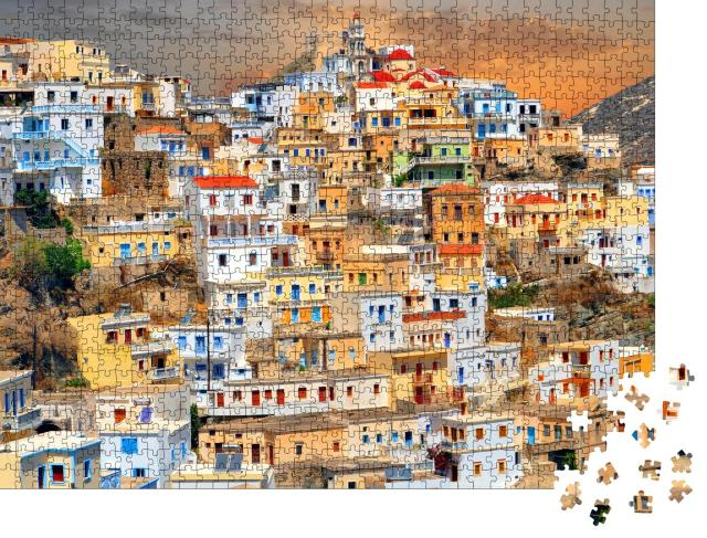 """Puzzle 1000 Teile """"Altes Dorf Olympos, Griechenland"""""""