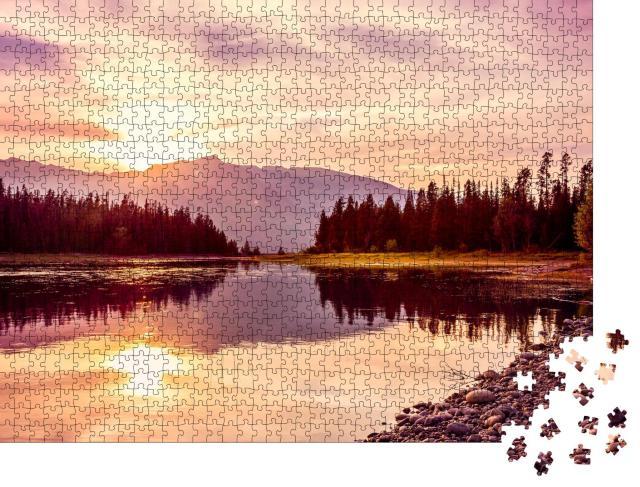 "Puzzle 1000 Teile ""Jackson Lake, Grand Teton National Park, Wyoming, USA"""