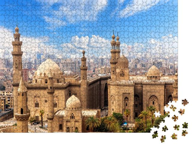 """Puzzle 1000 Teile """"Moschee und Madrasa von Sultan Hasan in Kairo, Ägypten"""""""