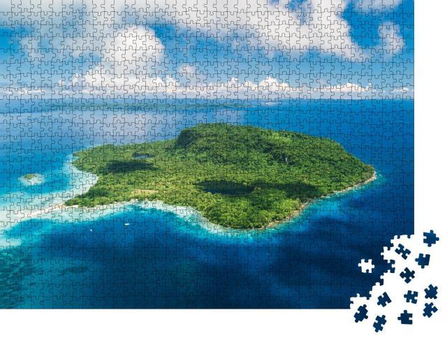 """Puzzle 1000 Teile """"Ein abgelegenes Inselparadies vor Santo, Vanuatu"""""""
