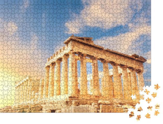 """Puzzle 1000 Teile """"Parthenon-Tempel bei Sonnenuntergang, Athen, Griechenland"""""""
