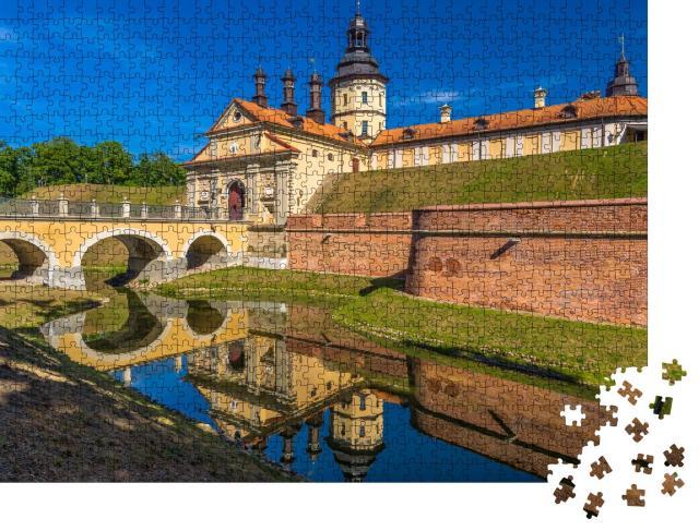 """Puzzle 1000 Teile """"Schlosskomplex Nesvizh in Belarus"""""""