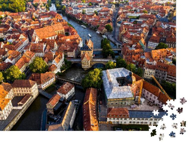 """Puzzle 1000 Teile """"Altes Rathaus an der Regnitz, Bamberg, Deutschland"""""""