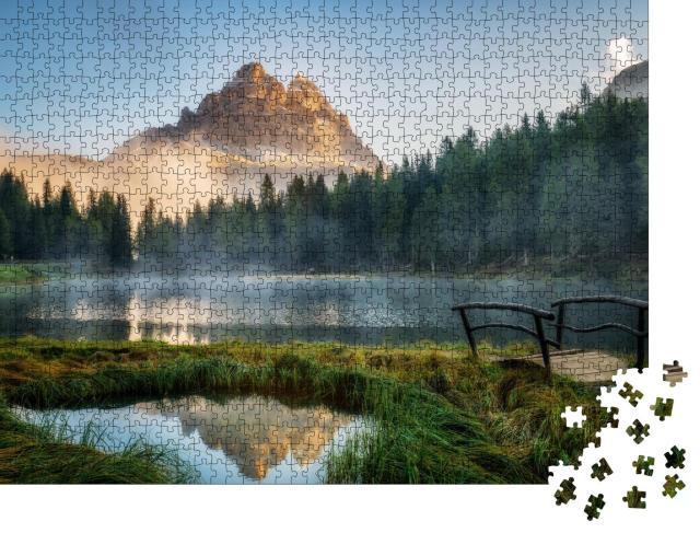 """Puzzle 1000 Teile """"Landschaft von Antorno mit See und Berggipfeln, Dolomiten, Südtirol"""""""