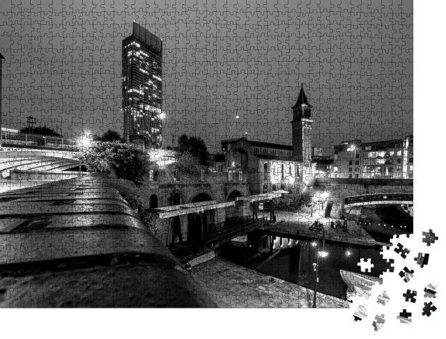 """Puzzle 1000 Teile """"Manchester: eine Stadt bei Nacht"""""""