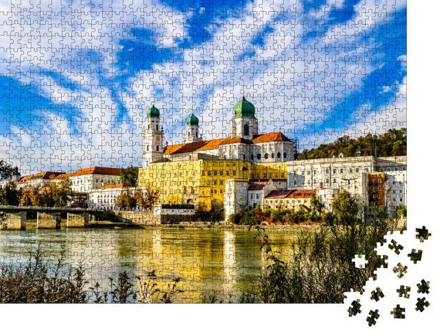 """Puzzle 1000 Teile """"Altstadt von Passau, Bayern, Deutschland"""""""