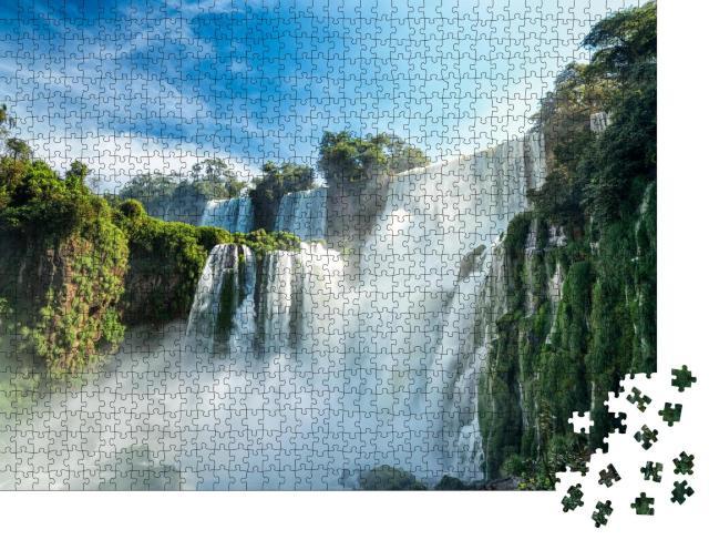 """Puzzle 1000 Teile """"Atemberaubende  Iguazu-Wasserfälle in Argentinien"""""""