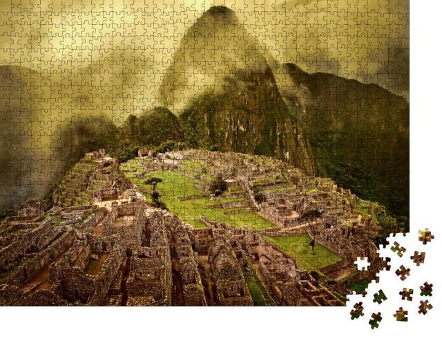 """Puzzle 1000 Teile """"Machu Picchu in Peru, UNESCO-Weltkulturerbe"""""""