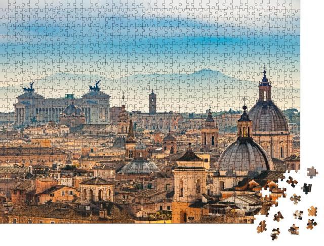 "Puzzle 1000 Teile ""Blick auf Rom vom Castel Sant'Angelo"""