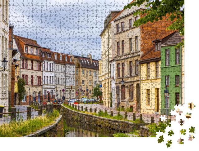 """Puzzle 1000 Teile """"In den Straßen der Altstadt von Wismar"""""""