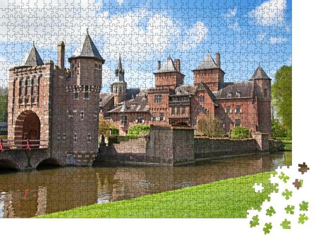 """Puzzle 1000 Teile """"Wunderschönes Schloss De Haar bei Utrecht, Niederlande"""""""