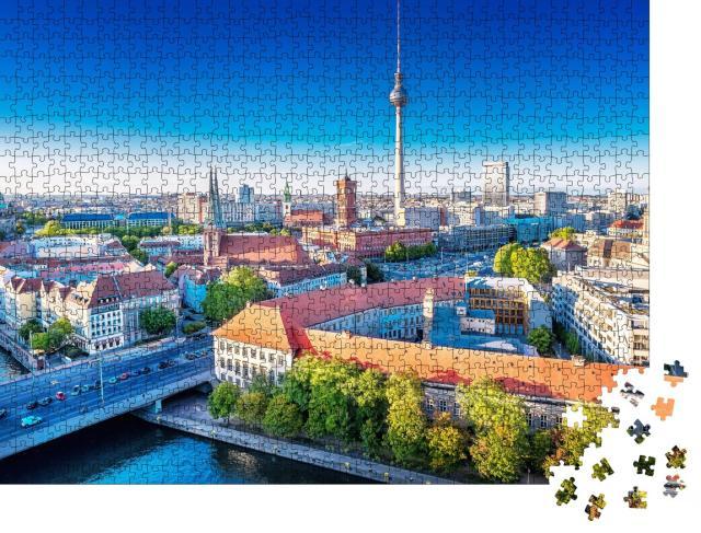"""Puzzle 1000 Teile """"Panoramablick auf die Berliner Innenstadt, Deutschland"""""""