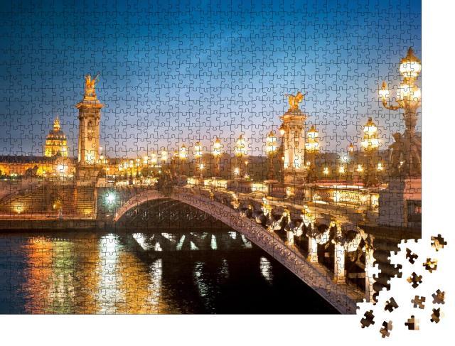"""Puzzle 1000 Teile """"Eine Brücke in Paris"""""""