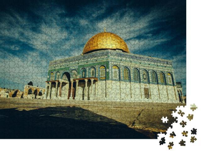 """Puzzle 1000 Teile """"Der Felsendom mit seiner goldenen Kuppel, Jerusalem, Israel"""""""
