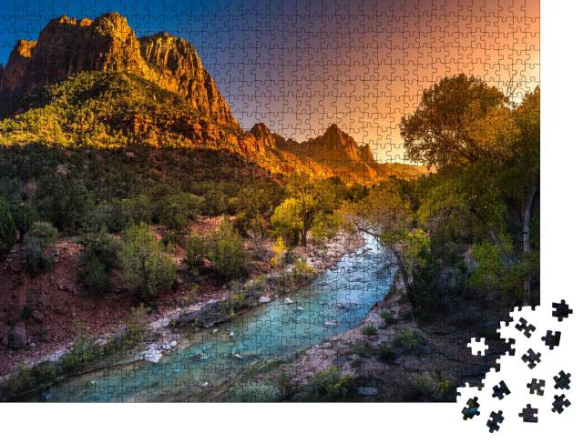 """Puzzle 1000 Teile """"Herbst im Zion National Park, Utah, USA"""""""