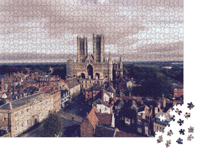 """Puzzle 1000 Teile """"Die Kathedrale von Lincoln, England"""""""