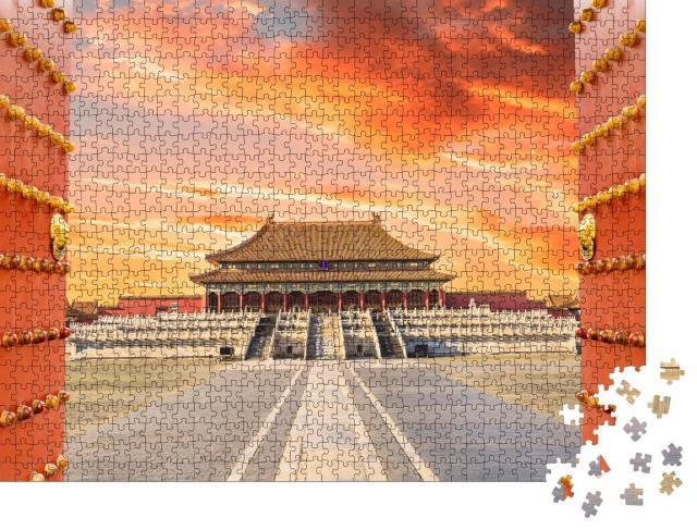 """Puzzle 1000 Teile """"Königspaläste der Verbotenen Stadt Peking, China"""""""