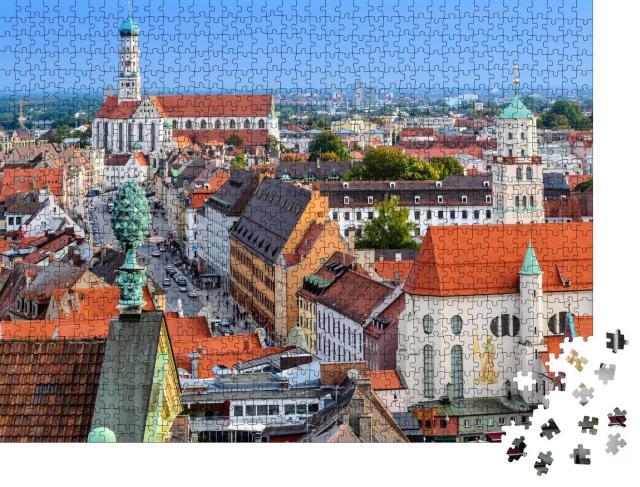 """Puzzle 1000 Teile """"Wunderschöne Altstadt von Augsburg, Deutschland"""""""