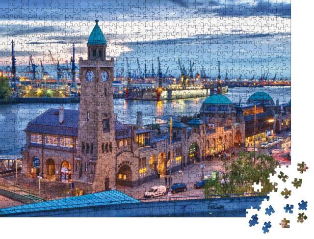"""Puzzle 1000 Teile """"Hamburger Hafen, Deutschland"""""""
