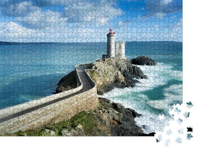 """Puzzle 1000 Teile """"Blick auf den Phare du petit minou in Plouzane, Bretagne, Frankreich"""""""