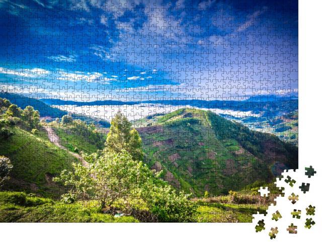 """Puzzle 1000 Teile """"Beeindruckender Bwindi-Nationalpark, Uganda"""""""