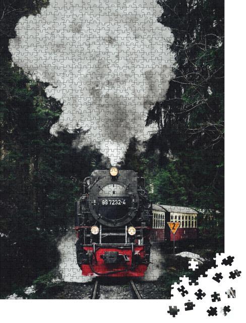 """Puzzle 1000 Teile """"Historische Dampflokomotive"""""""