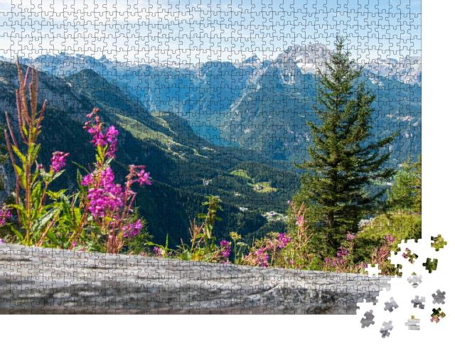 """Puzzle 1000 Teile """"Blick vom Kehlsteinhaus zum Königssee, Obersalzberg, Berchtesgaden"""""""