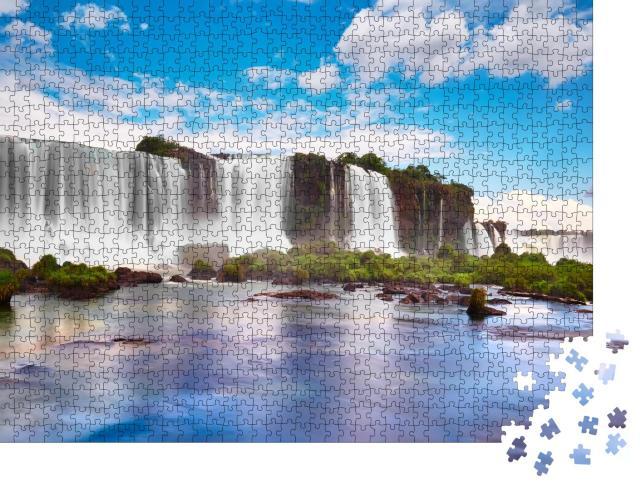 """Puzzle 1000 Teile """"Iguazu-Wasserfälle in Argentinien, Blick vom Teufelsschlund"""""""