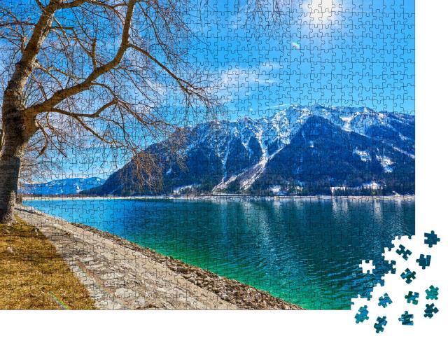 """Puzzle 1000 Teile """"Der Achensee in den österreichischen Alpen"""""""
