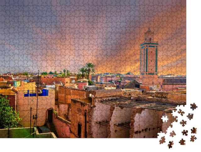 """Puzzle 1000 Teile """"Panoramablick auf Marrakesch und die alte Medina, Marokko"""""""